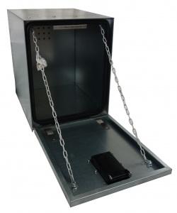 Coffre en acier galvanisé pour le rangement de vos accessoires tels que sangles, chaînes, élingues