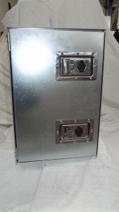 Coffre à outils en acier galvanisé, ouverture latérale à gauche